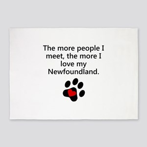 The More I Love My Newfoundland 5'x7'Area Rug