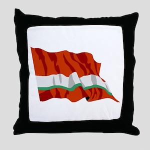 Tajikistan Flag Throw Pillow