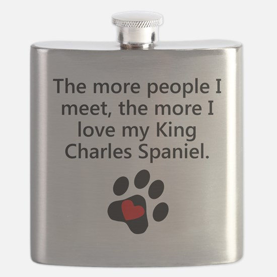 The More I Love My King Charles Spaniel Flask
