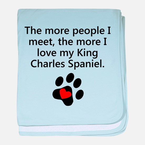 The More I Love My King Charles Spaniel baby blank