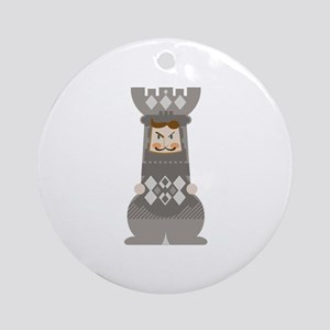 Chess Rook Ornament (Round)