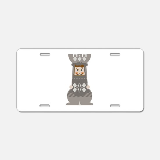 Chess Rook Aluminum License Plate
