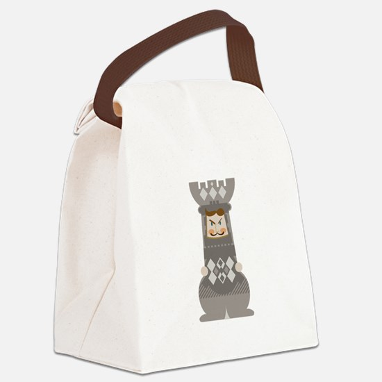 Chess Rook Canvas Lunch Bag