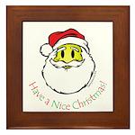 Santa Smiley (1) Framed Tile