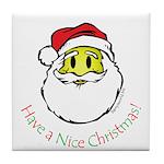 Santa Smiley (1) Tile Coaster