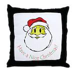 Santa Smiley (1) Throw Pillow