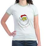 Santa Smiley (1) Jr. Ringer T-Shirt