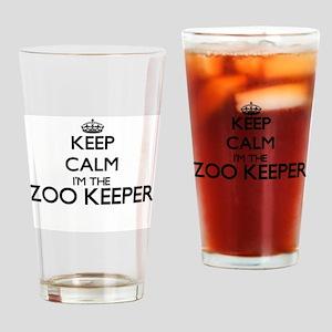 Keep calm I'm the Zoo Keeper Drinking Glass