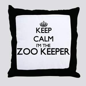 Keep calm I'm the Zoo Keeper Throw Pillow