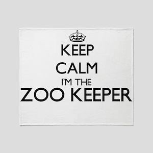 Keep calm I'm the Zoo Keeper Throw Blanket
