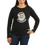 Santa Smiley (1) Women's Long Sleeve Dark T-Shirt