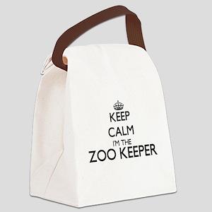 Keep calm I'm the Zoo Keeper Canvas Lunch Bag