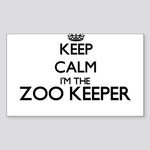 Keep calm I'm the Zoo Keeper Sticker