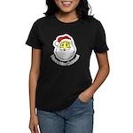 Santa Smiley (1) Women's Dark T-Shirt