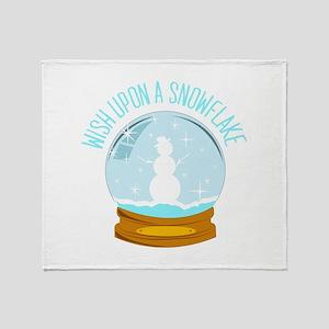 A Snowflake Throw Blanket