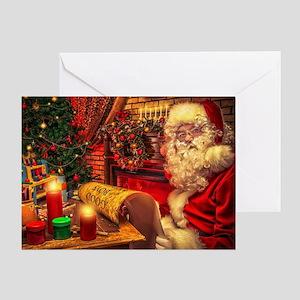 Santa Claus 4 Greeting Cards