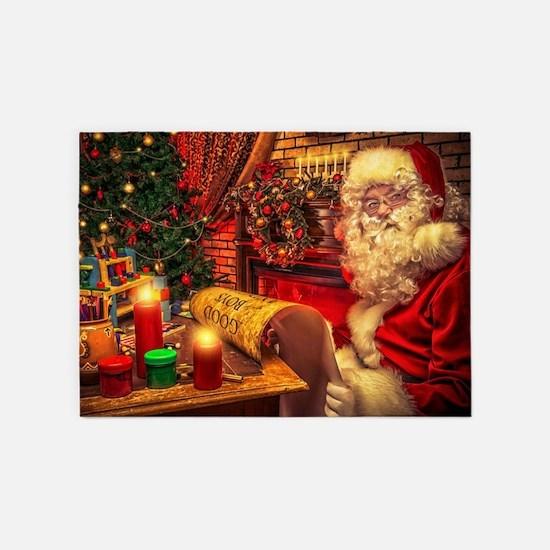 Santa Claus 4 5'x7'Area Rug