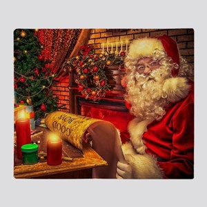 Santa Claus 4 Throw Blanket