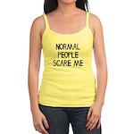 Normal People Scare Me Humor Jr. Spaghetti Tank