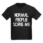 Normal People Scare Me Humor Kids Dark T-Shirt