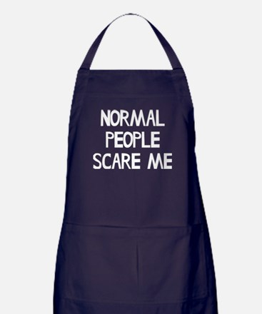 Normal People Scare Me Humor Apron (dark)