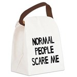 Normal People Scare Me Humor Canvas Lunch Bag