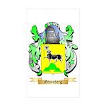 Grossberg Sticker (Rectangle 10 pk)