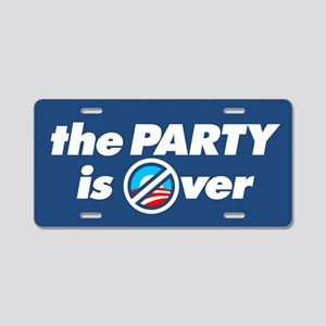 The Party is Over Aluminum License Plate