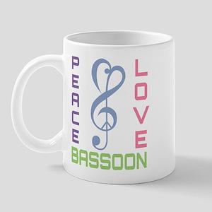Peace Love Bassoon Mug