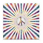 Hypnotic Peace Delight Tile Coaster