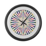 Hypnotic Peace Delight Large Wall Clock