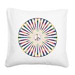 Hypnotic Peace Delight Square Canvas Pillow