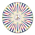 Hypnotic Peace Delight Round Car Magnet