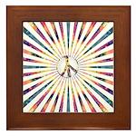 Hypnotic Peace Delight Framed Tile
