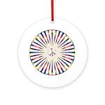 Hypnotic Peace Delight Ornament (Round)