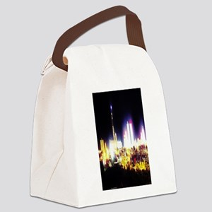Electric Atlantic City Canvas Lunch Bag