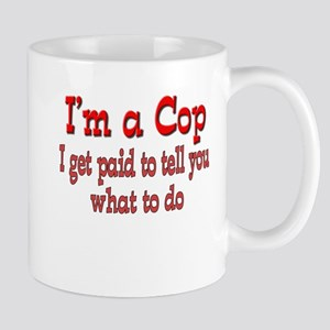 I get paid- Cop Stainless Steel Travel Mugs