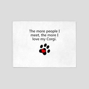 The More I Love My Corgi 5'x7'Area Rug