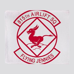 815th_airlift_flying_jennies Throw Blanket