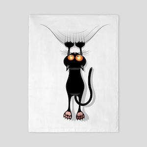 Funny Black Cat Twin Duvet