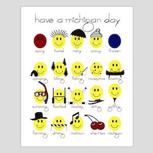 Michigan Smiley Small Poster