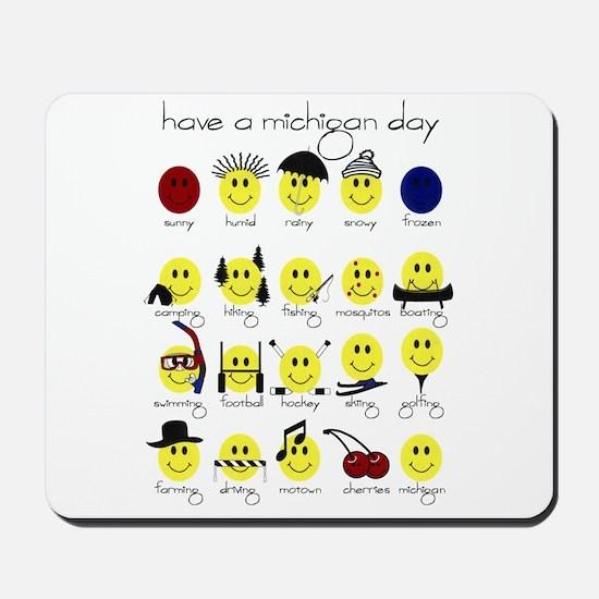 Michigan Smiley Mousepad