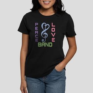 Peace Love Band Women's Dark T-Shirt