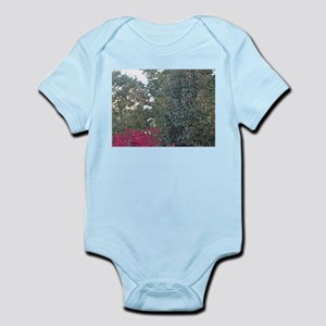 Peak-A-Boo Red Leaves Body Suit