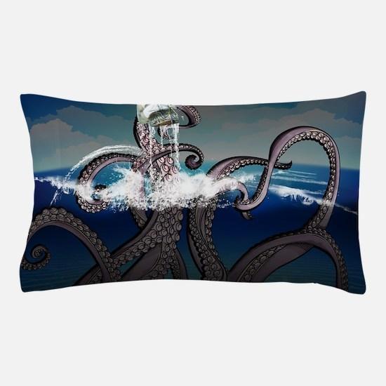 Kraken Attacks Ship at Sea Pillow Case