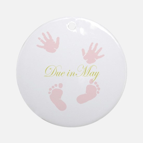 Due in May Ornament (Round)