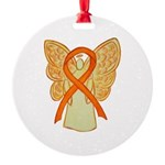 Orange Ribbon Angel Ornament