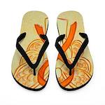 Orange Ribbon Angel Flip Flops