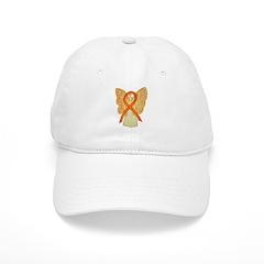 Orange Ribbon Angel Baseball Baseball Cap