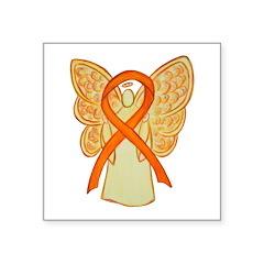 Orange Ribbon Angel Sticker